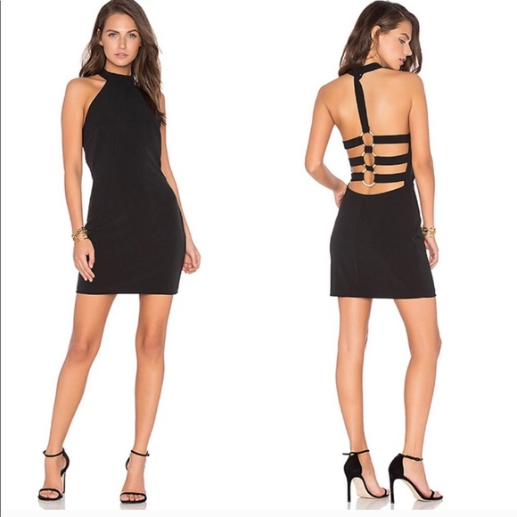 NBD Dresses & Skirts - NBD black dress halter mini NWT